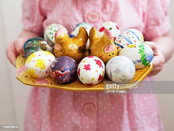 A girl with easter eggs, Sweden.