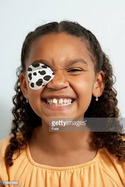 Girl With Eye Patch at Clinic