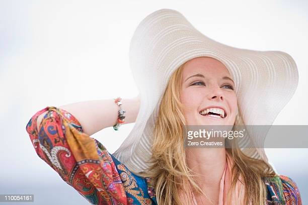 Girl with floppy hat