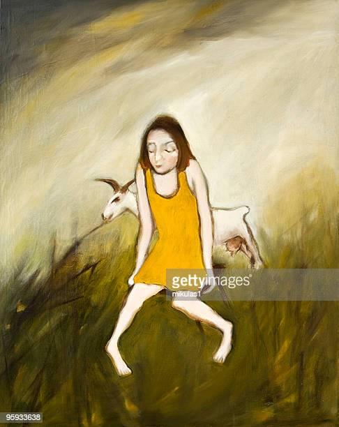Menina com Cabra