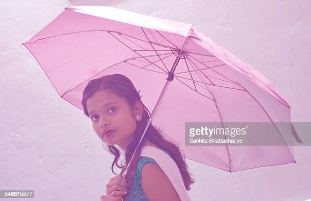 Girl With Her Umbrella
