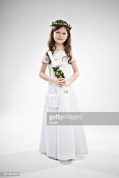 Girl With Laurel And Candle Stick
