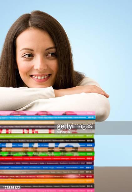 Girl with Magazines