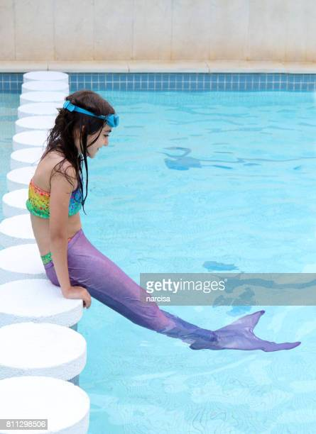 Girl with mermaid tail