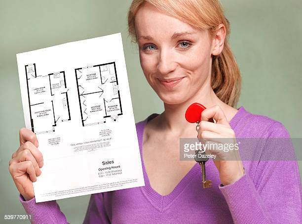 Girl with new home keys