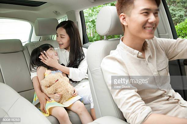 Girl with parents
