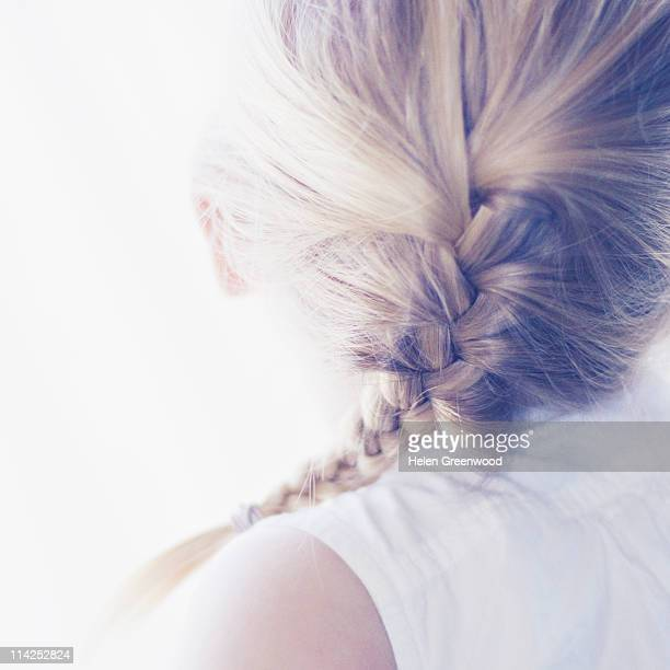 Girl with plait in hair