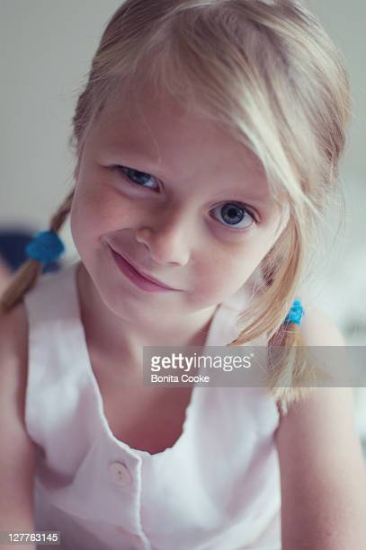 Girl with quizzical funny expression
