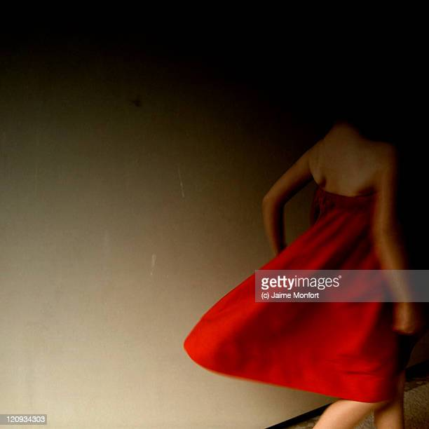 Girl with red dress