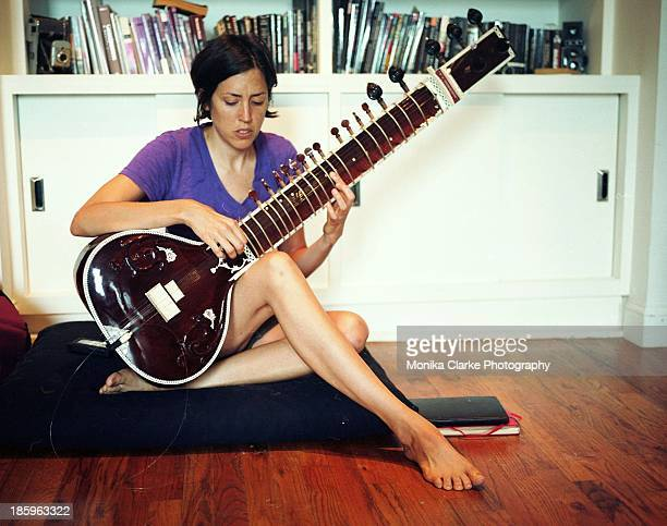 Girl with sitar