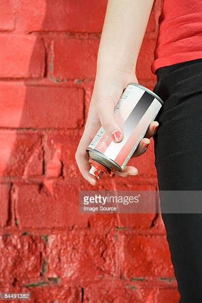 Girl with spray paint