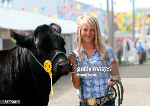 girl with steer