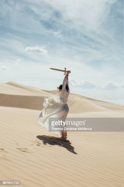 Girl With Sword Sand