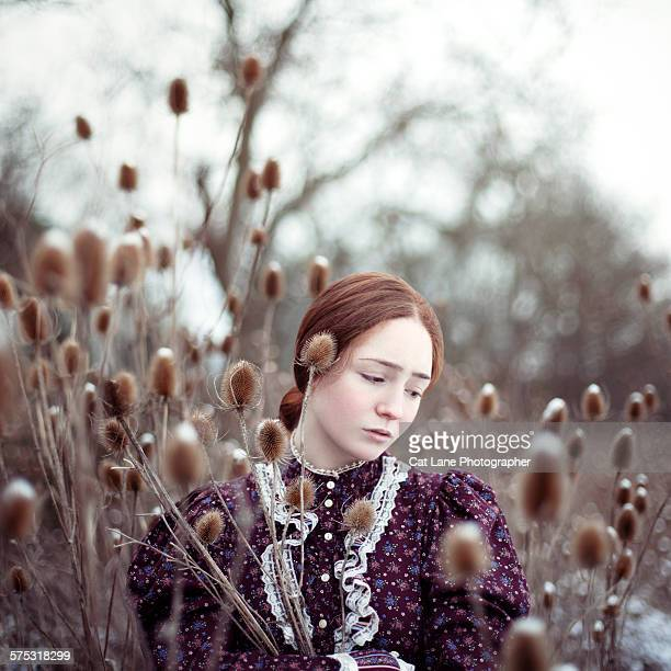 Girl with teasels