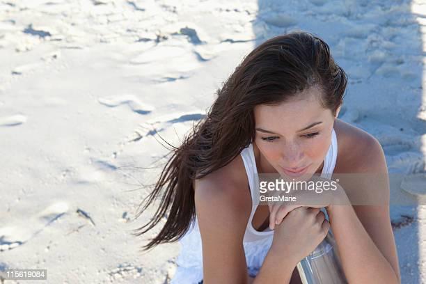 Mädchen mit waterbottle