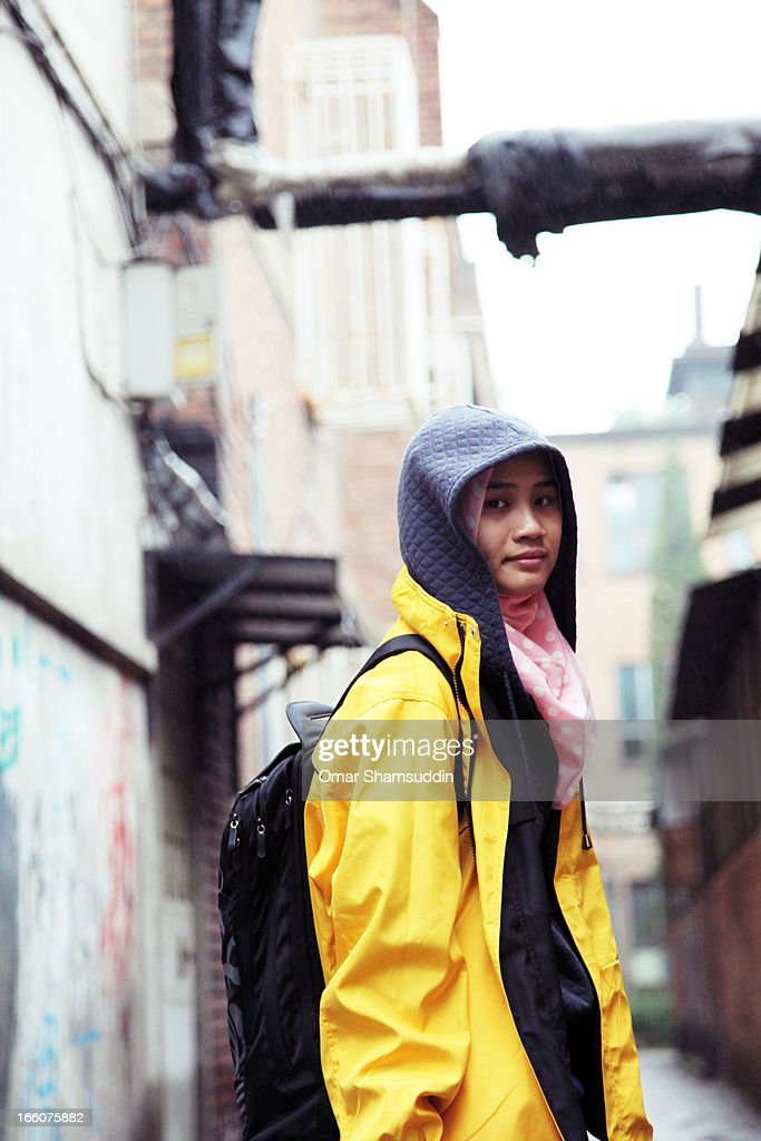 Girl with Yellow Jacket and Hijab