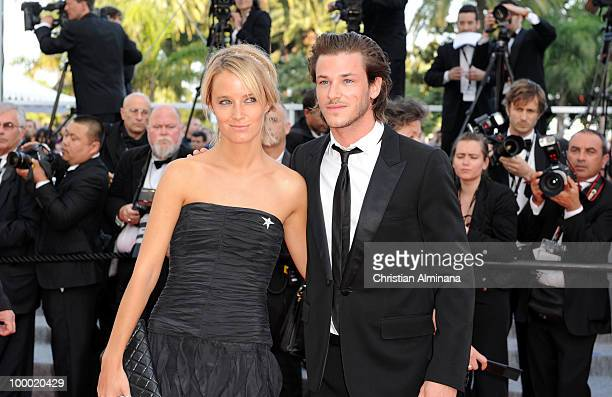 Girlfriend Jordane Crantelle and Gaspard Ulliel attends the 'Fair Game' Premiere held at the Palais des Festivals during the 63rd Annual...