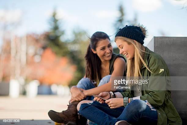 Freundinnen Treffen nach dem Kurs