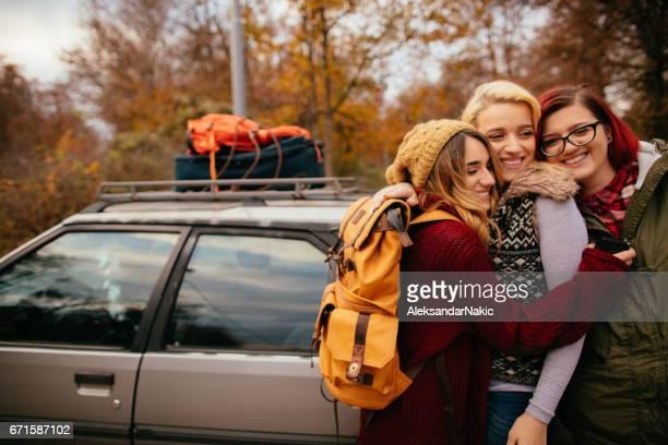 Girlfriends on a road trip