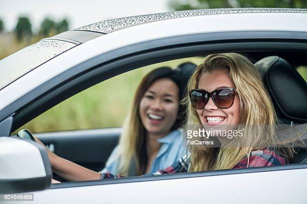 Girlfriends Taking a Road Trip