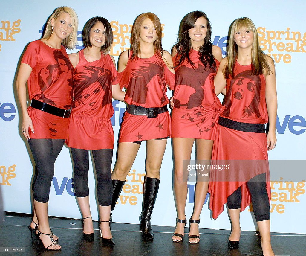 <a gi-track='captionPersonalityLinkClicked' href=/galleries/search?phrase=Girls+Aloud&family=editorial&specificpeople=212984 ng-click='$event.stopPropagation()'>Girls Aloud</a> during 2003 Five's Spring Break Concert at The Ocean in London, Great Britain.