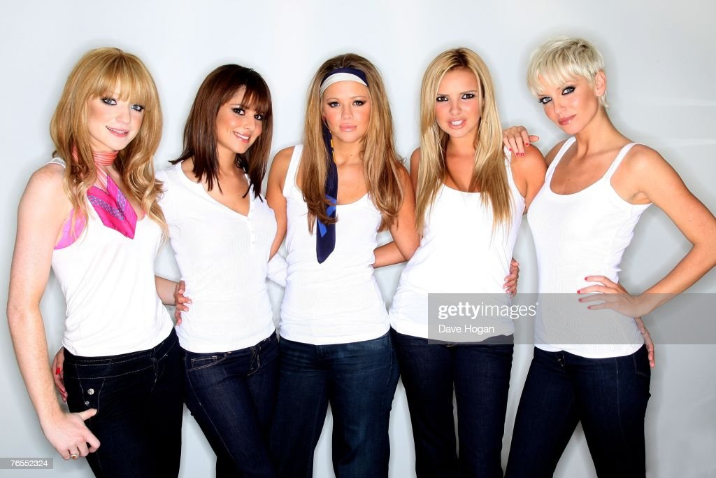 Girls Aloud (L-R) Nicola Roberts, Cheryl Cole, Kimberley Walsh, Nadine Coyle and Sarah Harding pose for a portrait session promoting their forthcoming single 'Sexy! No No No...' at the Trafalgar Hotel on August 29, 2007 in London, England. The single is due for release on September 3 and will be included on their fifth album, due for release in November.