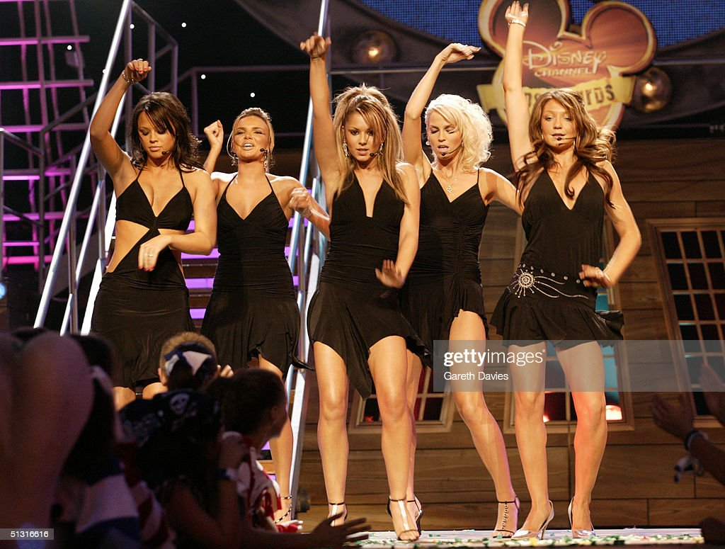 Girls Aloud perform at the 'Disney Channel Kids Awards 2004' at the Royal Albert Hall on September 16, 2004 in London. The annual children's awards includes categories such as Best DVD, Best Male, Best Female, Best Newcomer and Single Of The Year.