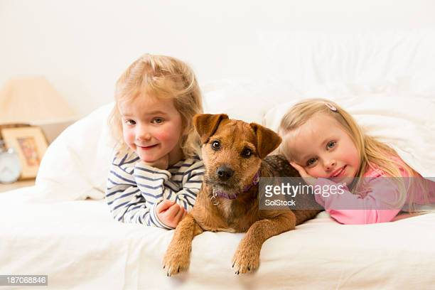 Girls and Their Dog