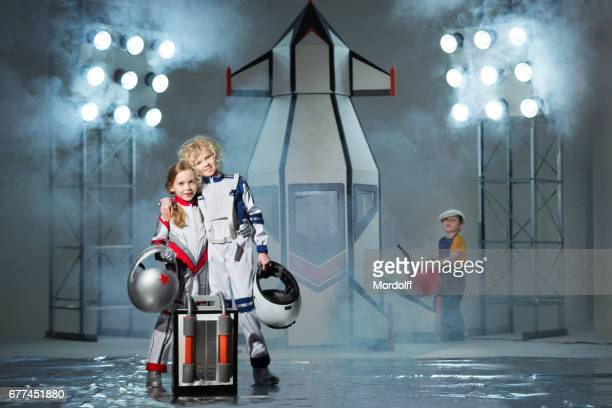 Girls Astronauts Going To flight Into Space