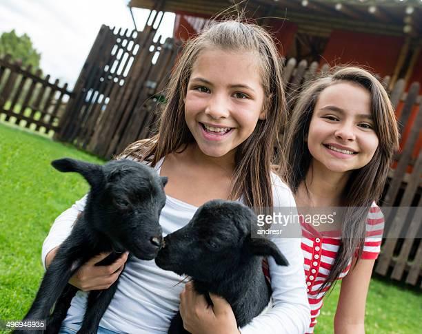 Mädchen in einem animal park