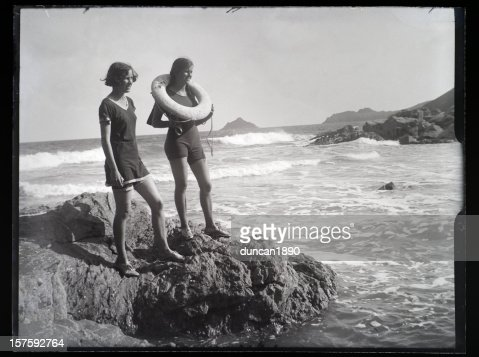 Girls at the Seaside - Vintage Photograph