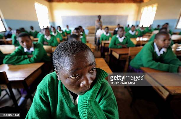 Girls attending school at Mtitu Secondary School where they live and studies during school terms at Kilolo district approximately 500 kilometres...
