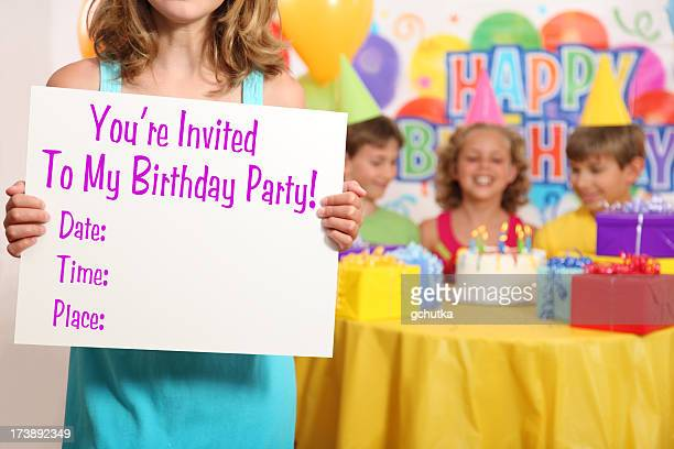 Girl's Birthday Party-Einladung