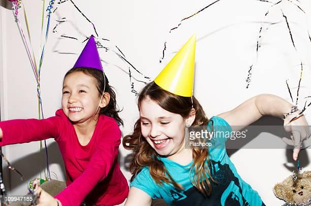 Girls celebrating at party