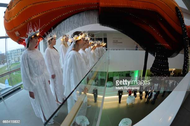 A girls choir sing for delegates at the ARoS Art Museum at SportAccord Convention Closing Event during the fifth day of SportAccord Convention 2017...