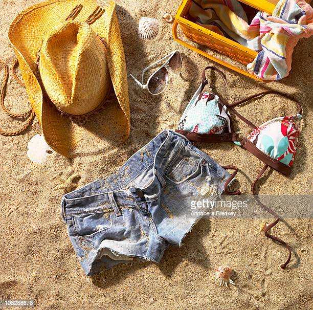 Girl's clothing left behind on beach
