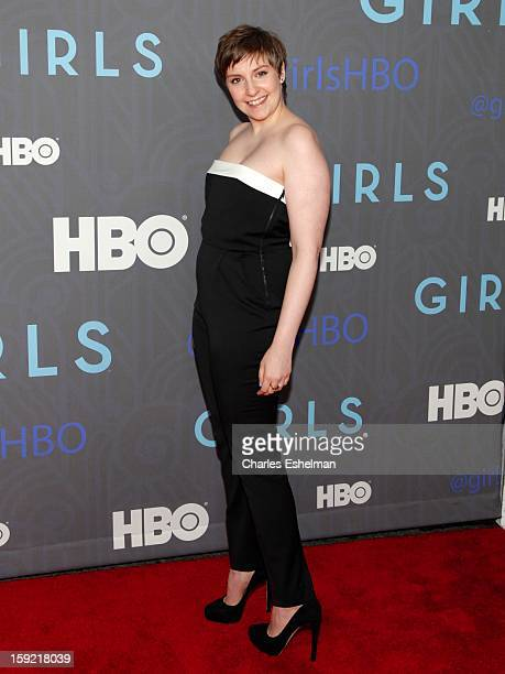 'Girls' creator Lena Dunham attends HBO hosts the premiere of 'Girls' Season 2 at the NYU Skirball Center on January 9 2013 in New York City