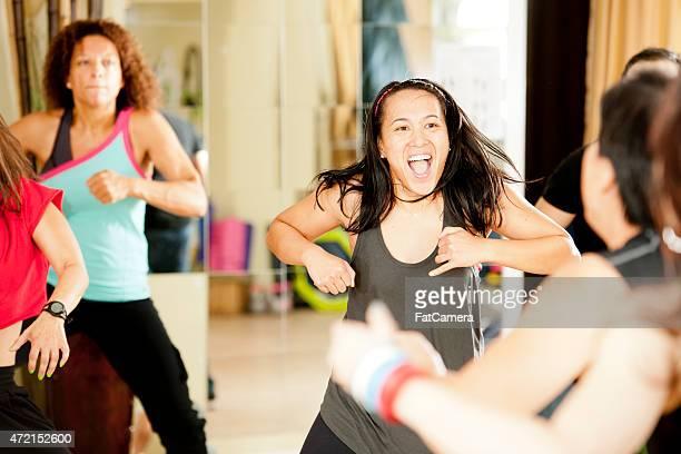 Girls Dancing in Class