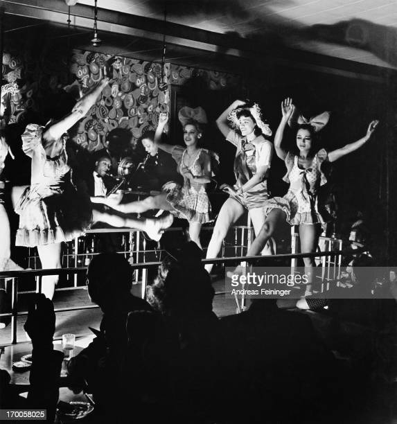 Girls dancing on stage at the Harlem nightclub 'Elks Rendezvous' New York City 1940