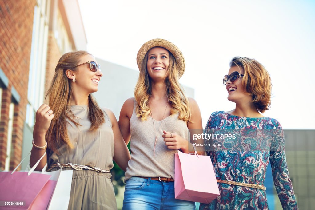 Girls day out! : Stockfoto