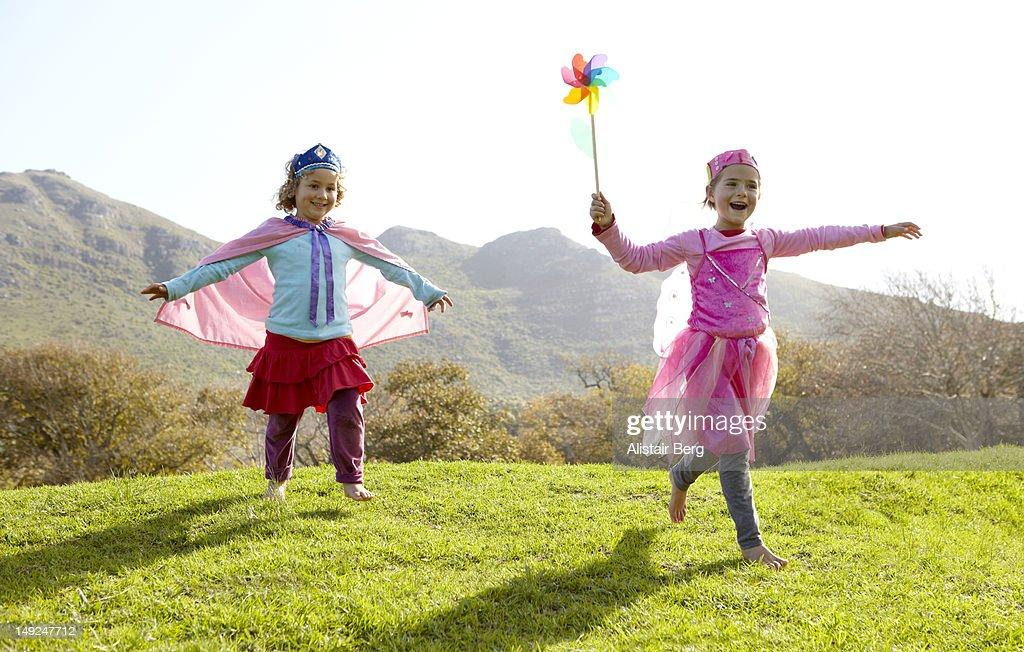 Girls dressed as fairies