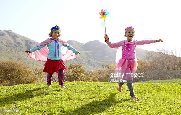 Girls dressed as fairies