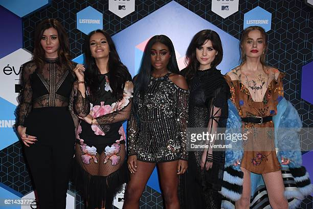 Girls Eleanor Calder Monica Geuze Sandra Lambeck Betty Autier and Sonya Esman attend the MTV Europe Music Awards 2016 on November 6 2016 in Rotterdam...