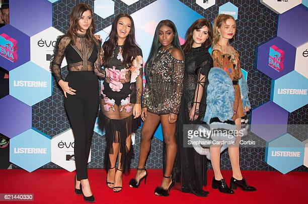 Girls Eleanor Calder Monica Geuze Sandra Lambeck Betty Autier and Sonya Esman attends the MTV Europe Music Awards 2016 on November 6 2016 in...