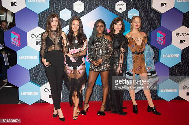 MTV IT Girls Eleanor Calder Monica Geuze Sandra Lambeck Betty Autier and Sonya Esman attend the MTV Europe Music Awards 2016 on November 6 2016 in...