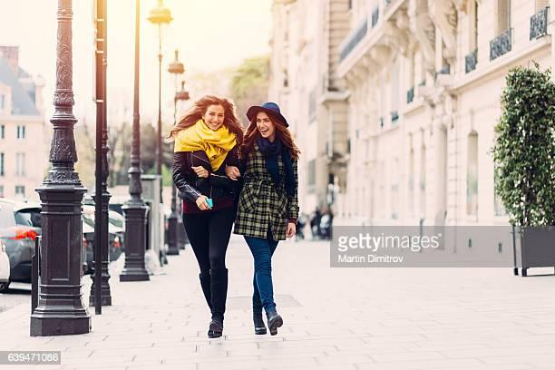 Girls enjoying Paris together