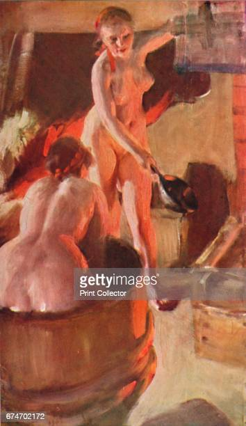 Girls from Dalarna Having a Bath' From the collection of the Stockholm National Museum From The Studio Painting Series 1 Figure Studies [The Studio...