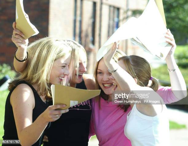 Girls from the Emmanuel College in Gateshead celebrate their Alevel results Girls have once again beat the boys in the race to get good ALevel grades...