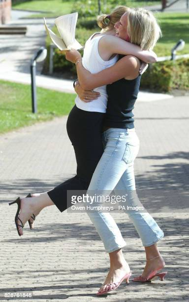 Girls from the Emmanuel College in Gateshead LR Amy Kay and Lauren Kirkwood celebrate thier Alevel results Girls have once again beat the boys in the...