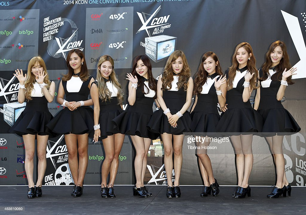 Girls Generation attend KCON 2014 at the Los Angeles Memorial Sports Arena on August 10, 2014 in Los Angeles, California.
